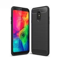 Fiber odolný silikonový kryt na mobil LG Q7 - černý