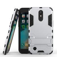 Defender odolný obal na mobil LG K10 (2017) - stříbrný