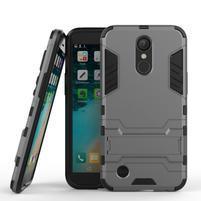 Defender odolný obal na mobil LG K10 (2017) - šedý