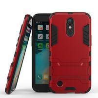 Defender odolný obal na mobil LG K10 (2017) - červený