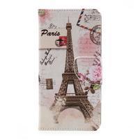 Funs peněženkové pouzdro na LG K10 (2017) - Eiffelova věž