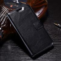Horse PU kožené pouzdro na mobil LG K10 (2017) - černé