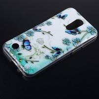 Emotive gelový obal na mobil LG K10 (2017) - modří motýlci