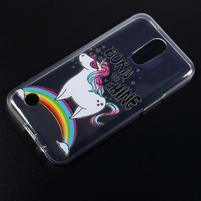 Emotive gelový obal na mobil LG K10 (2017) - jednorožec