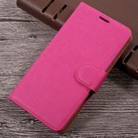 Clothy PU kožené pouzdro na mobil LG K4 (2017) - rose