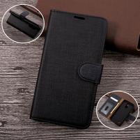 Clothy PU kožené pouzdro na mobil LG K4 (2017) - černé