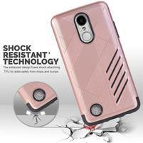 Hybridní odolný obal na LG K8 (2017) - růžovozlatý