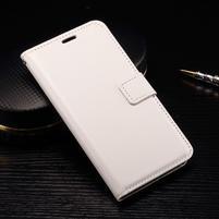 Wallet PU kožené zapínací pouzdro na LG Nexus 5X - bílé