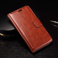 Wallet PU kožené zapínací pouzdro na LG Nexus 5X - hnědé