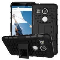 Outdoor odolný obal se stojánkem na LG Nexus 5X - černý