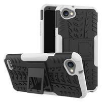 Outdoor odolné pouzdro se stojánkem na LG Q6 - bílý