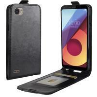 Flipové PU kožené pouzdro na LG Q6 - černé