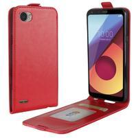 Flipové PU kožené pouzdro na LG Q6 - červené