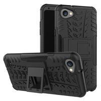 Outdoor odolné pouzdro se stojánkem na LG Q6 - černý
