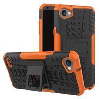 Outdoor odolné pouzdro se stojánkem na LG Q6 - oranžový