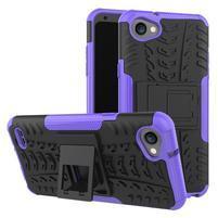 Outdoor odolné pouzdro se stojánkem na LG Q6 - fialový