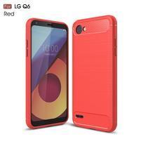 Carbo odolný obal na mobil LG Q6 - červený