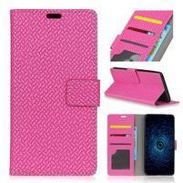 Texa PU kožené knížkové pouzdro na LG Q8 - rose