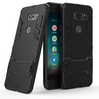 Defender odolný obal s výklopným stojánkem na LG V30 - černý