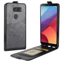Flipové PU kožené pouzdro na LG V30 - černé