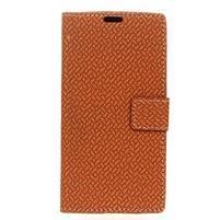 Cross Pu kožené pouzdro na mobil LG X Power 2 - hnědé