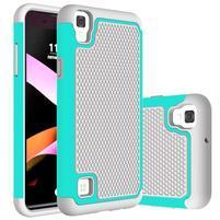 GT hybridní odolný obal na mobil LG X Style - šedý/azurový