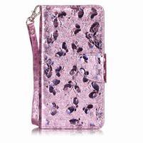 LuxButterfly knížkové pouzdro na LG X Style - růžové