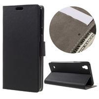 Wall PU kožené pouzdro na mobil LG X Style - černé
