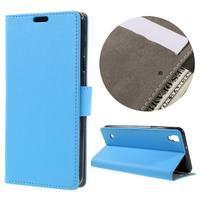 Wall PU kožené pouzdro na mobil LG X Style - světlemodré