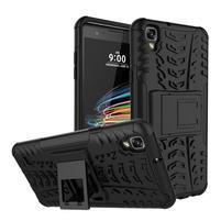 Outdoor odolný obal se stojánkem na LG X Style - černý