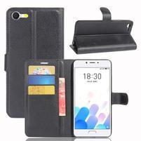 Graines knížkové pouzdro pro mobil Meizu E2 - černé