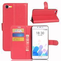 Graines knížkové pouzdro pro mobil Meizu E2 - červené