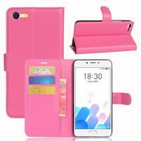 Graines knížkové pouzdro pro mobil Meizu E2 - rose