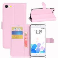 Graines knížkové pouzdro pro mobil Meizu E2 - růžové