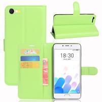 Graines knížkové pouzdro pro mobil Meizu E2 - zelené