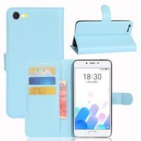 Graines knížkové pouzdro pro mobil Meizu E2 - světlemodré