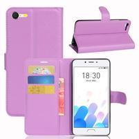 Graines knížkové pouzdro pro mobil Meizu E2 - fialové
