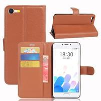 Graines knížkové pouzdro pro mobil Meizu E2 - hnědé