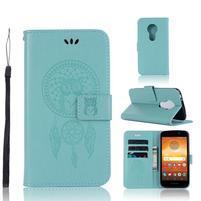 Dream PU kožené peněženkové pouzdro na Motorola Moto E5 - zelené