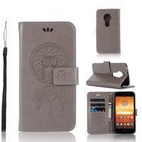 Dream PU kožené peněženkové pouzdro na Motorola Moto E5 - šedé