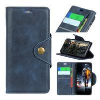 Wallet PU kožené pouzdro na Motorola Moto E5 Play - modré
