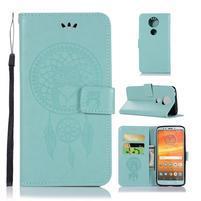 Printy PU kožené peněženkové pouzdro na Motorola Moto E5 Plus - zelené