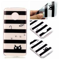 Emotive gelový obal na mobil Motorola Moto G6 Play - kočka