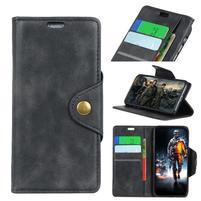 Wall PU kožené pouzdro na Motorola Moto G6 Play - černé