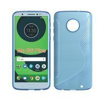 Carbon gelový odolný kryt pro Motorola Moto G6 Plus - světlemodrý