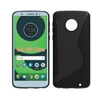 Carbon gelový odolný kryt pro Motorola Moto G6 Plus - černý