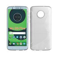 Carbon gelový odolný kryt pro Motorola Moto G6 Plus - bílý