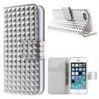 Cool Style pouzdro na iPhone 5 a iPhone 5s - stříbrné
