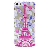 Fun gelový obal na iPhone 5s a iPhone 5 - Eiffelova věž