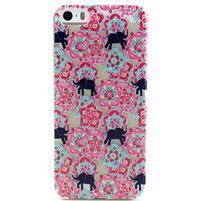 Fun gelový obal na iPhone 5s a iPhone 5 - sloni